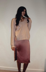 Slip Dress and Sweater