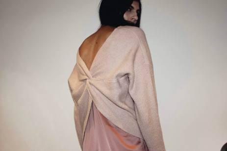 Slip Dress Sweater Combo