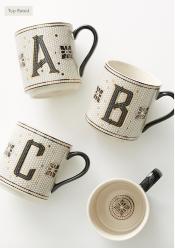 Monogram Tile Coffee Mug