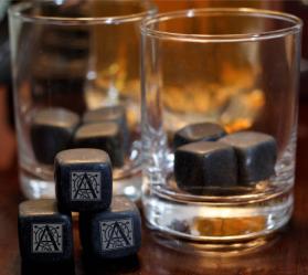 Monogrammed Whiskey Stones